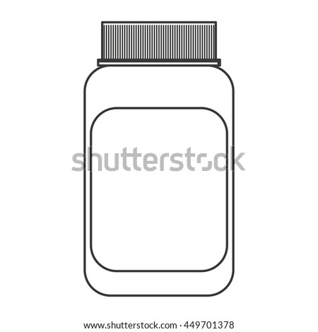simple flat design medicine bottle icon vector illustration
