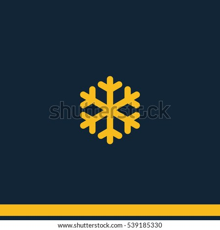 Simple Flat Snowflake Icon Winter Symbol Stock Photo Photo Vector