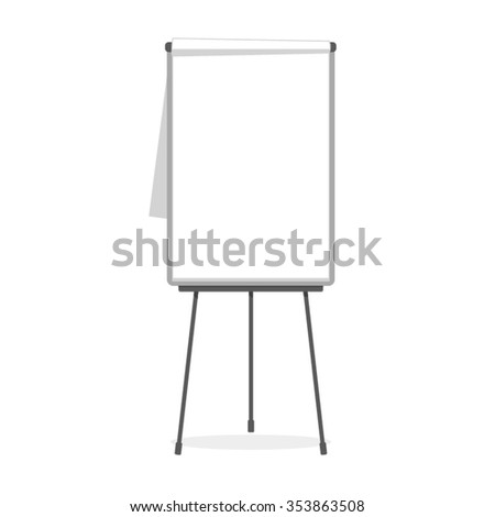 Simple flip-chart vector template isolated on white - stock vector