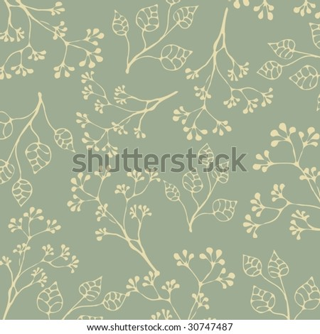 simple floral pattern - stock vector