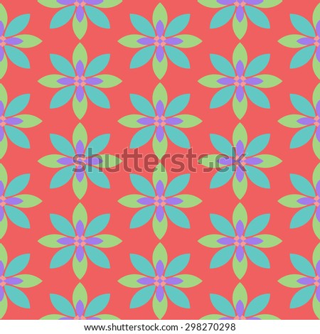Simple floral seamless pattern. Vector color  wallpaper.
