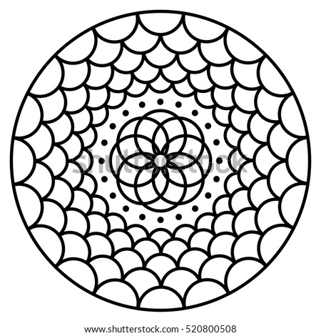 simple flower mandala pattern for coloring book pages easy floral design to color for kids - Book To Color
