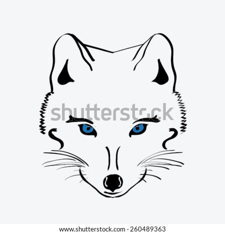 how to draw a simple foxes eye