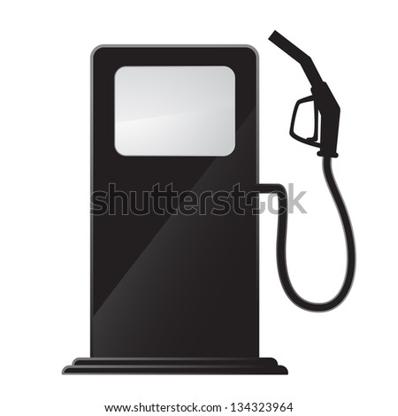 simple gas station icon - stock vector