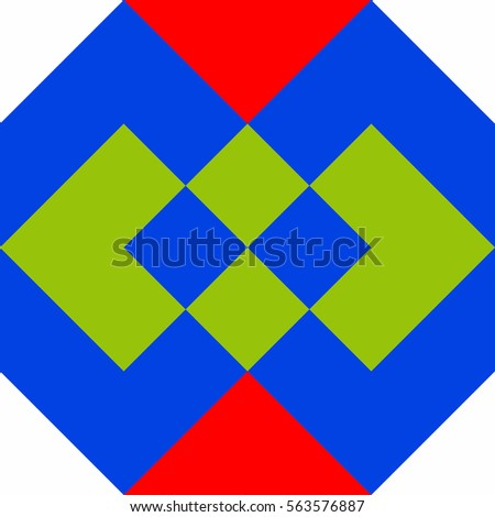 Simple Geometric Design Background In Scandinavian Style Bright Colorful Poster
