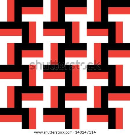 Simple Geometric Maze Pattern - stock vector