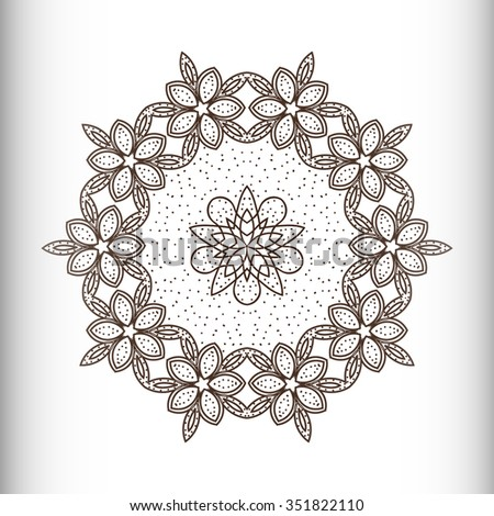 Simple geometric ornaments, round patterns - vector illustration - stock vector