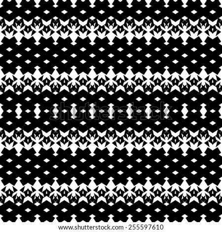 Simple geometric seamless pattern with triangles.Black and white modern background.Vector illustration.Fantasy monochrome backdrop.