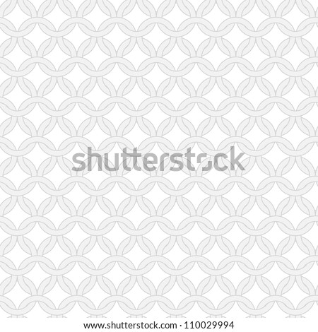 Simple geometric vector pattern - seamless ornament of interwoven rings - stock vector