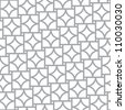 Simple geometric vector seamless pattern - monochrome abstract elements - stock