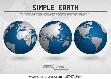 Simple Globe - stock vector