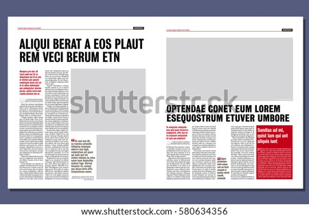 Simple Graphical Design Newspaper Template Stock Vector Hd Royalty