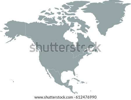 Simple gray north america map stock vector 612476990 shutterstock simple gray north america map sciox Gallery
