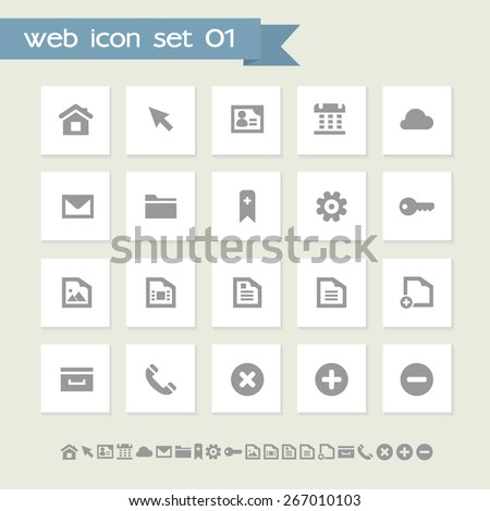 Simple gray web 1 icons
