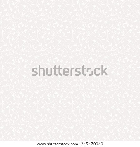 Simple green floral pattern. Seamless vector background. Bright texture. - stock vector