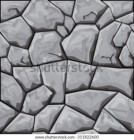 simple grey stone seamless pattern. Vector illustration - stock vector