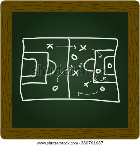 Simple hand drawn doodle of a football pitch