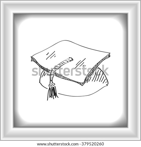 Simple hand drawn doodle of a mortar - stock vector
