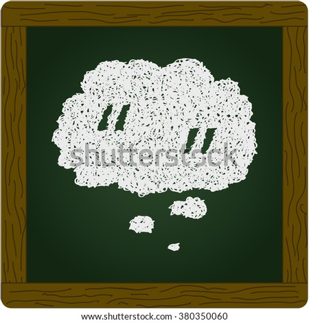 Simple hand drawn doodle of a quote thought bubble - stock vector