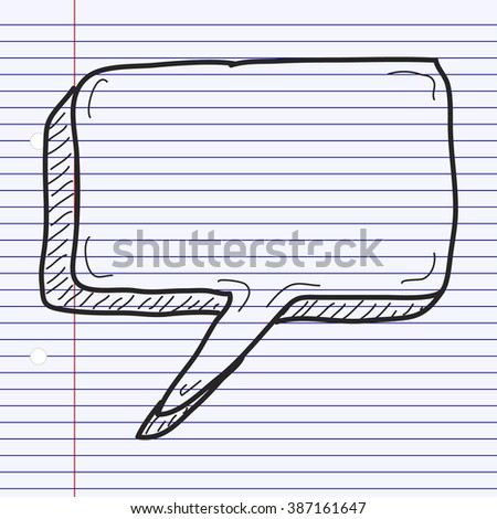 Simple hand drawn doodle of a speech bubble