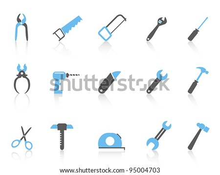 simple hand tool icons,color series - stock vector