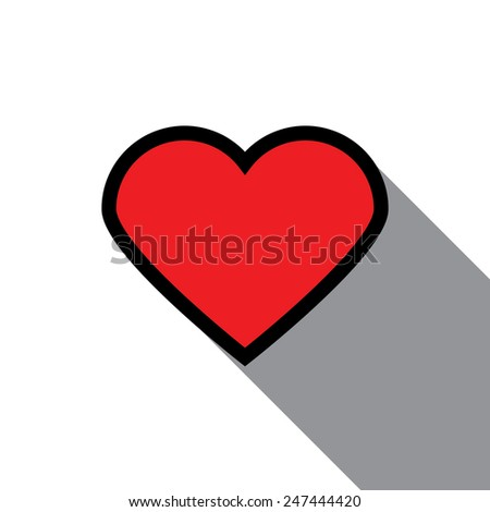 Simple Heart icon on white background - stock vector