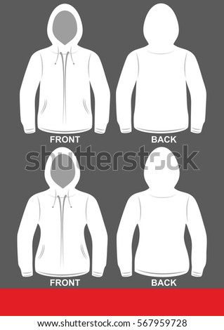 Simple Hoodie design, colored White
