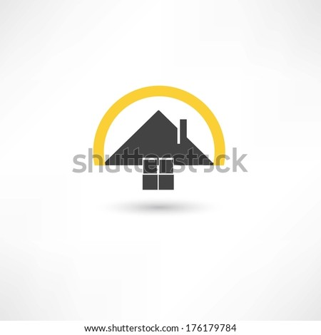 simple house - stock vector