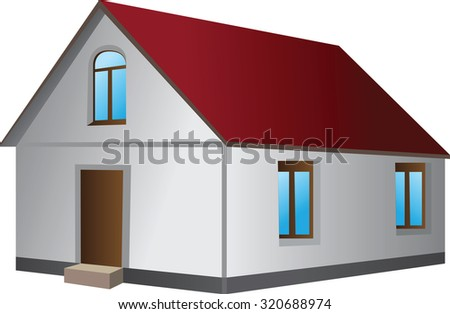 Simple house in 3D measurement