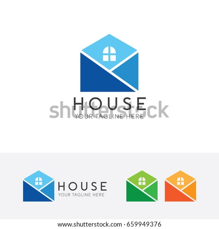 simple house logo home icon vector template