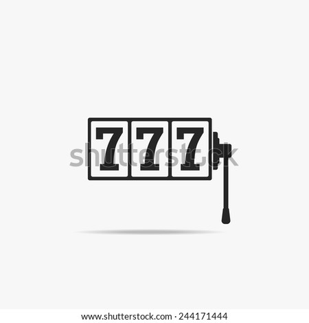 Simple icon 777. - stock vector