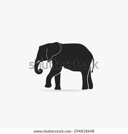 Simple icon elephant.