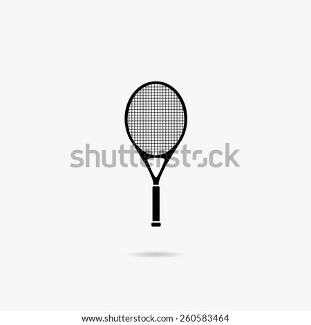 Simple icon for tennis rackets. - stock vector