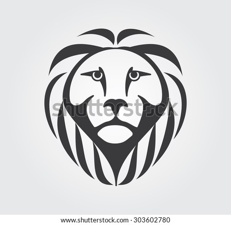 Simple Icon: Lion Head - stock vector