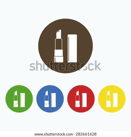 Simple icon lipstick. - stock vector