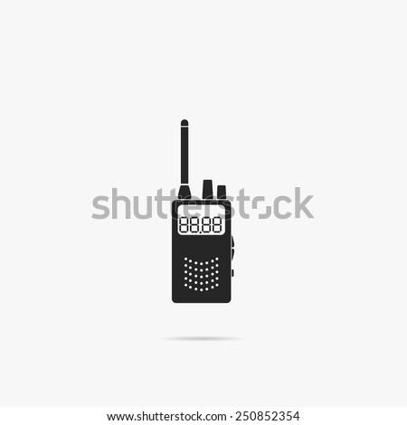 Simple icon mobile radio. - stock vector