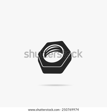 Simple icon nut. - stock vector