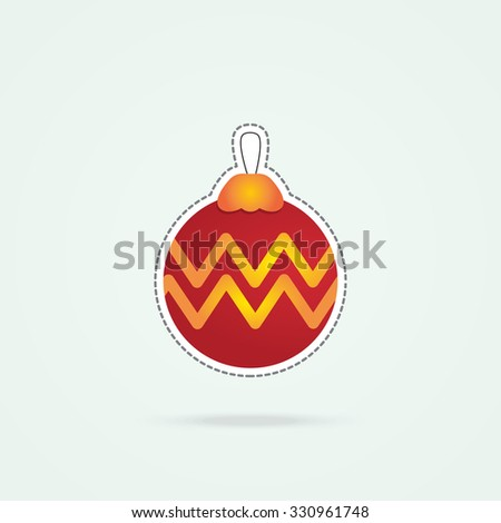 Simple icon of christmas bauble. - stock vector