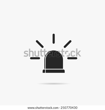 Simple icon police flashers. - stock vector