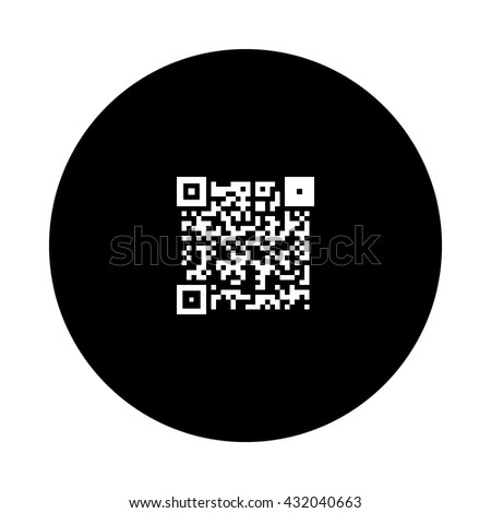 Simple icon QR code.