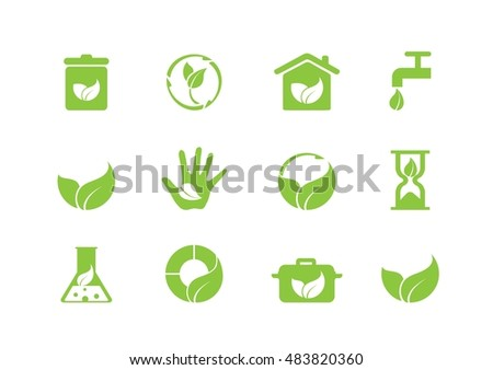 Simple icons set perfect for nature, health and other themes