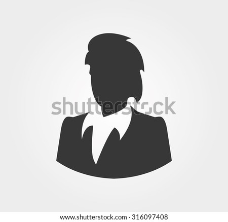 Simple icons: Silhouettes of business people - stock vector