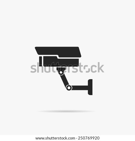 Simple icons surveillance camera. - stock vector