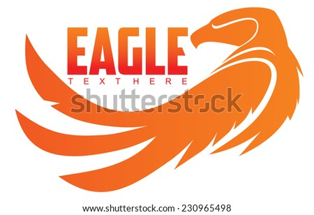 simple image of an eagle - stock vector