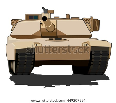 simple image of army battle tank. vector illustration