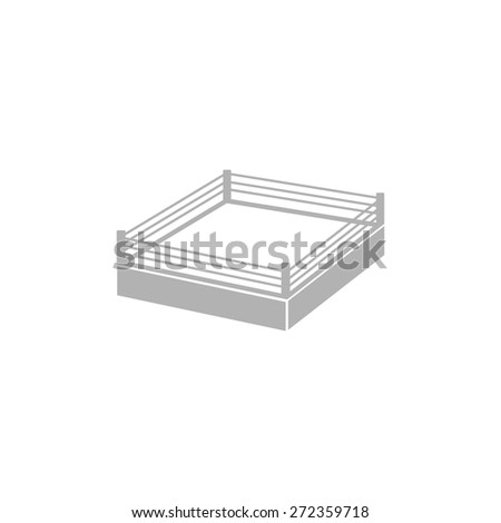 simple image of the boxing ring. - stock vector