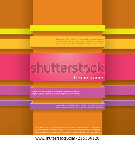 simple info graphic - stock vector