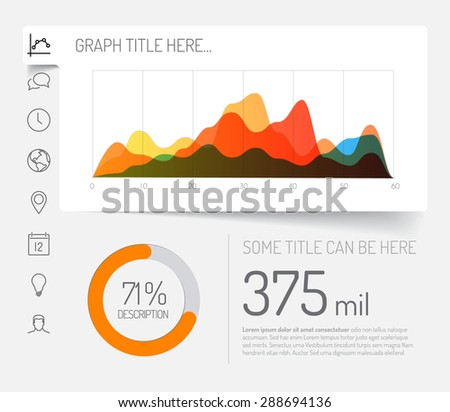 simple infographic dashboard template flat design stock vector 288694136 shutterstock. Black Bedroom Furniture Sets. Home Design Ideas