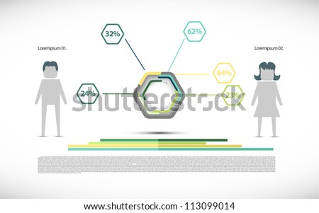 Simple infographic illustration - stock vector