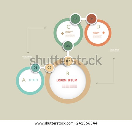 Simple Infographics elements design template can be used for numbered banners.cut out lines.graphic or website layout. Parts of infographic. Vector elements. - stock vector